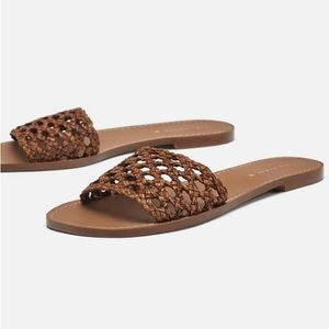 Zara Braided Slip On Sandals